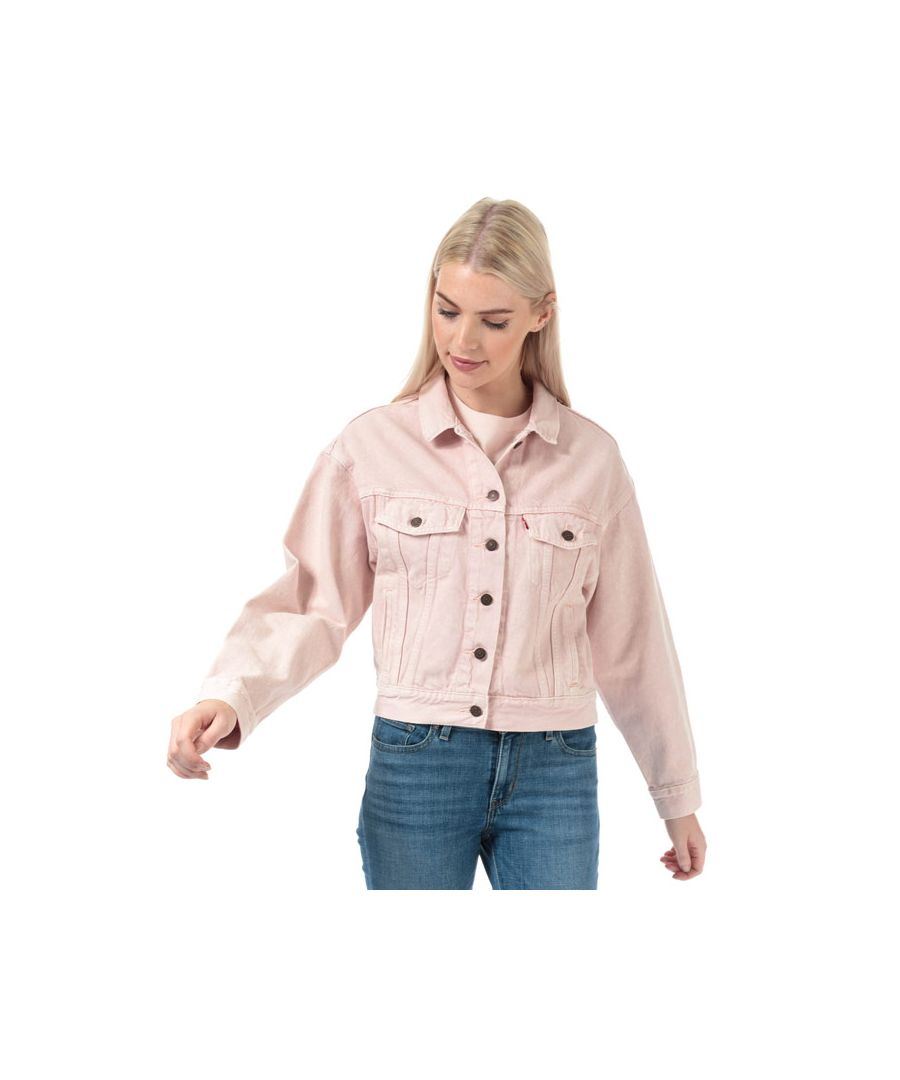 Image for Women's Levis Slouch Trucker Jacket in Pink
