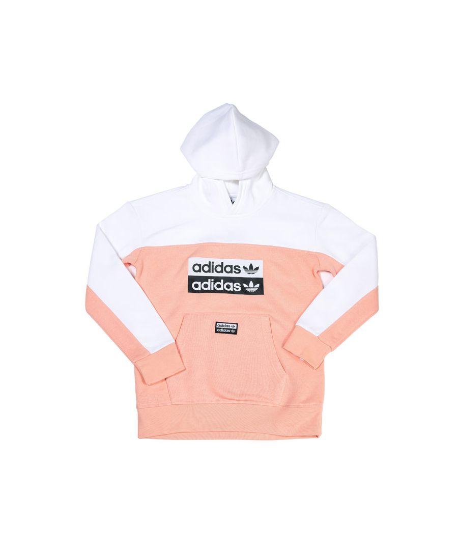Image for Boys' adidas Originals Junior Hoodie Pink White 13-14In Pink White
