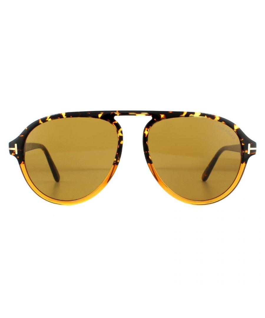 Image for Tom Ford Sunglasses Tony FT0756 55E Havana Brown