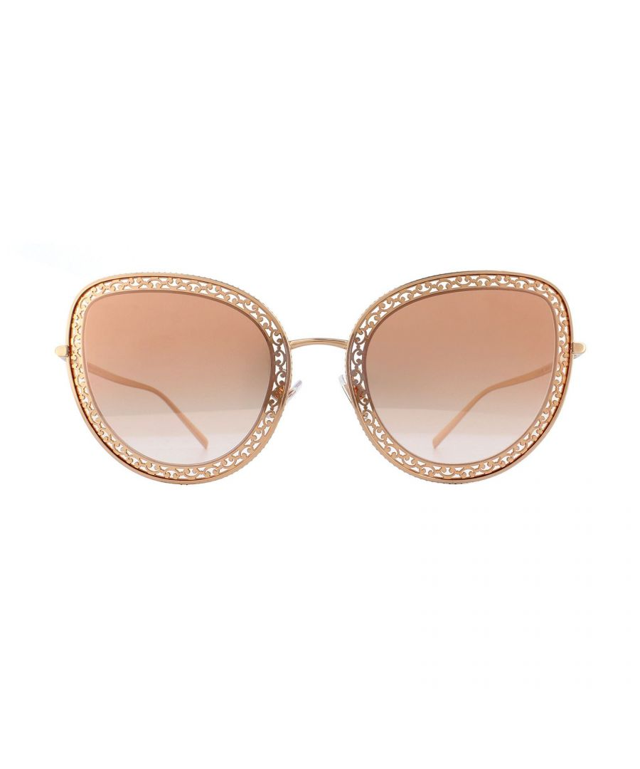 Image for Dolce & Gabbana Sunglasses DG2226 12986F Pink Gold Gradient Pink Mirror Pink