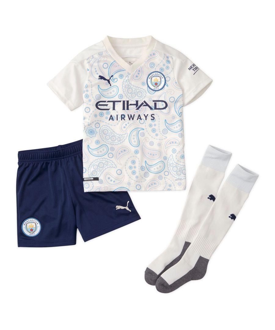 Image for Puma Manchester City 2020/21 Third Mini Kit White/Navy Blue