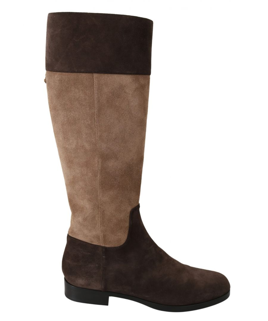 Image for Dolce & Gabbana Brown Leather Knee High Boots