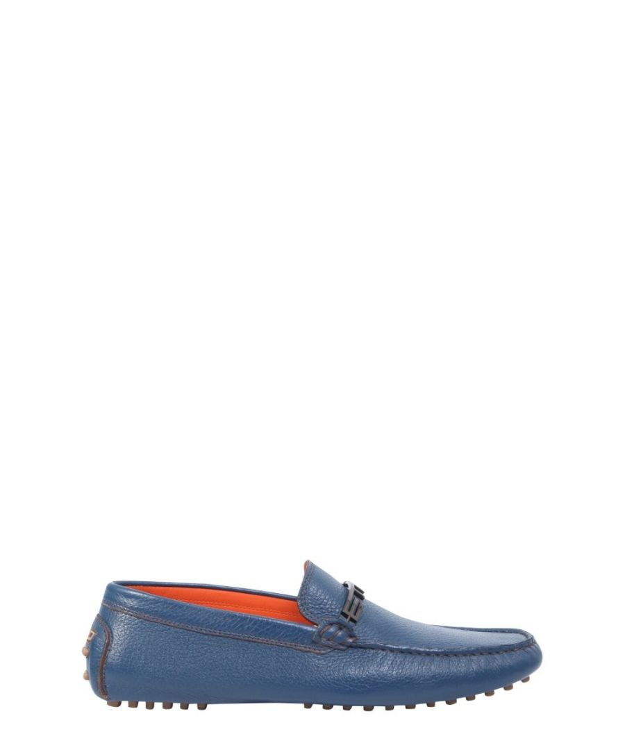 Image for ETRO MEN'S 111413085250 BLUE LEATHER LOAFERS