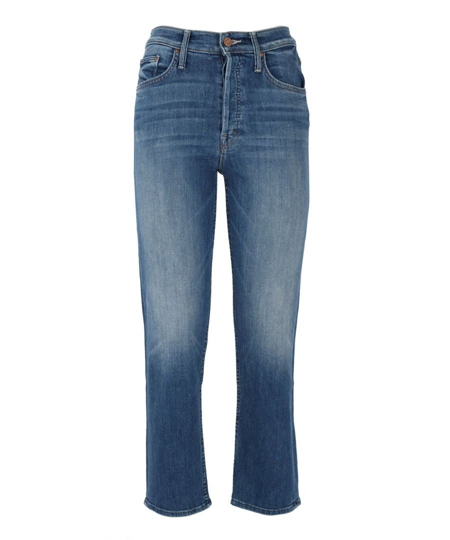 Image for MOTHER WOMEN'S 1364781 BLUE COTTON JEANS