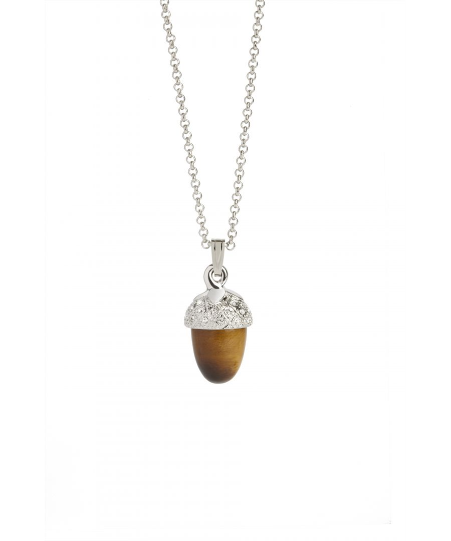 Image for Acorn Pendant Tigerseye