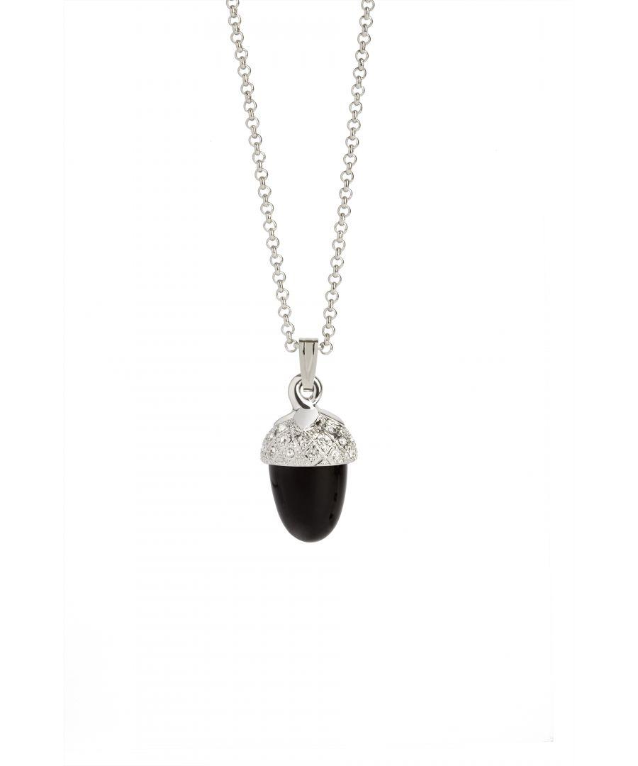 Image for Onyx Acorn Pendant