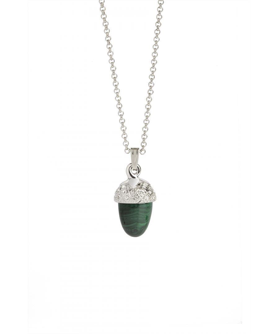 Image for Malachite Acorn Pendant
