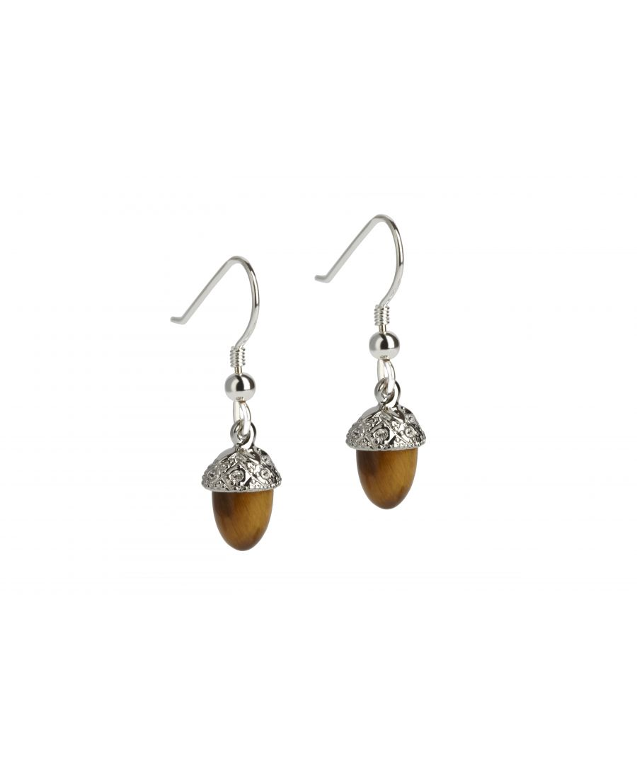Image for Tigerseye Acorn Drop Earrings