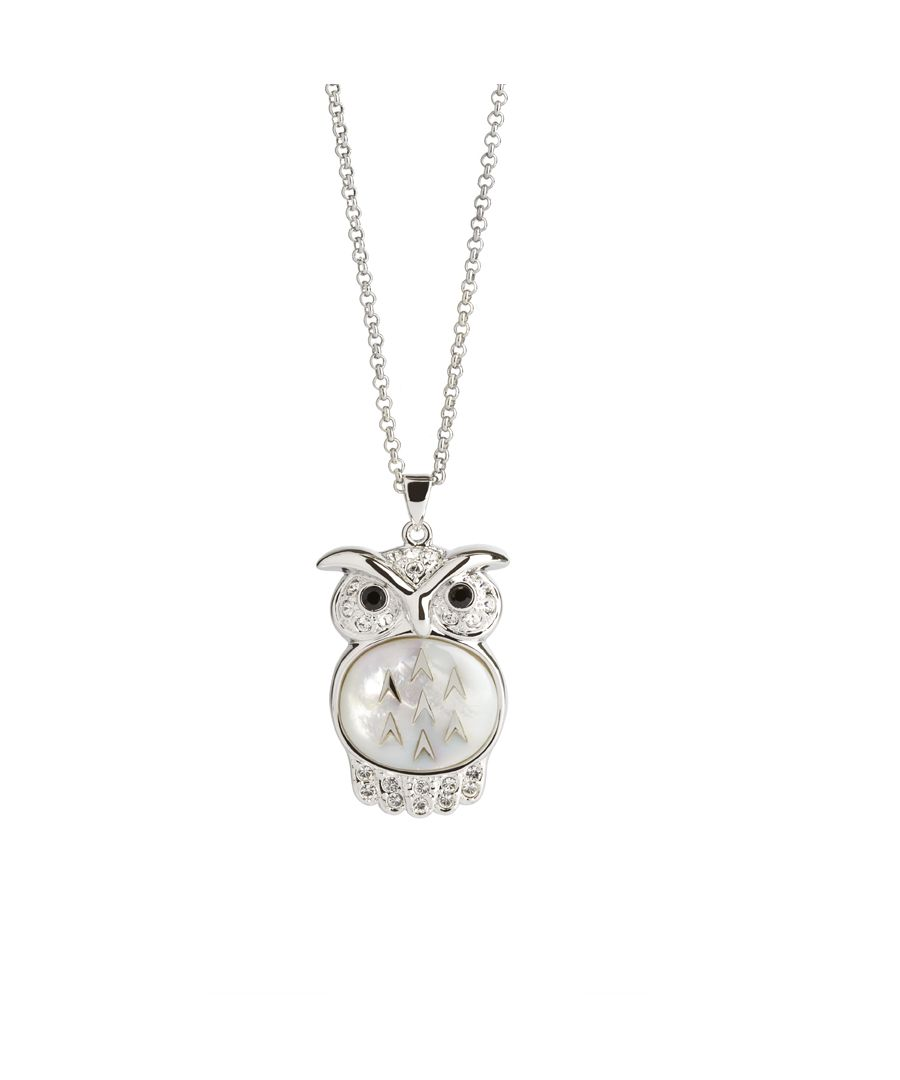 Image for Large MOP Owl Pendant