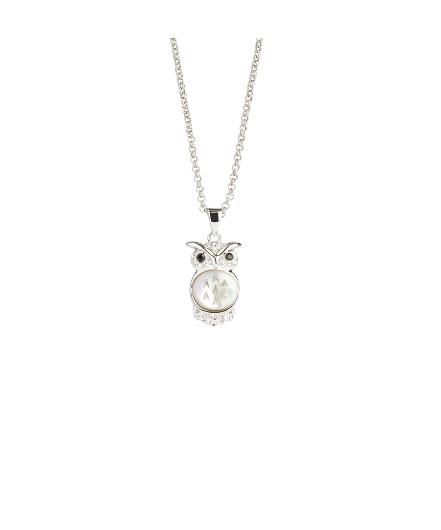Image for Small MOP Owl Pendant