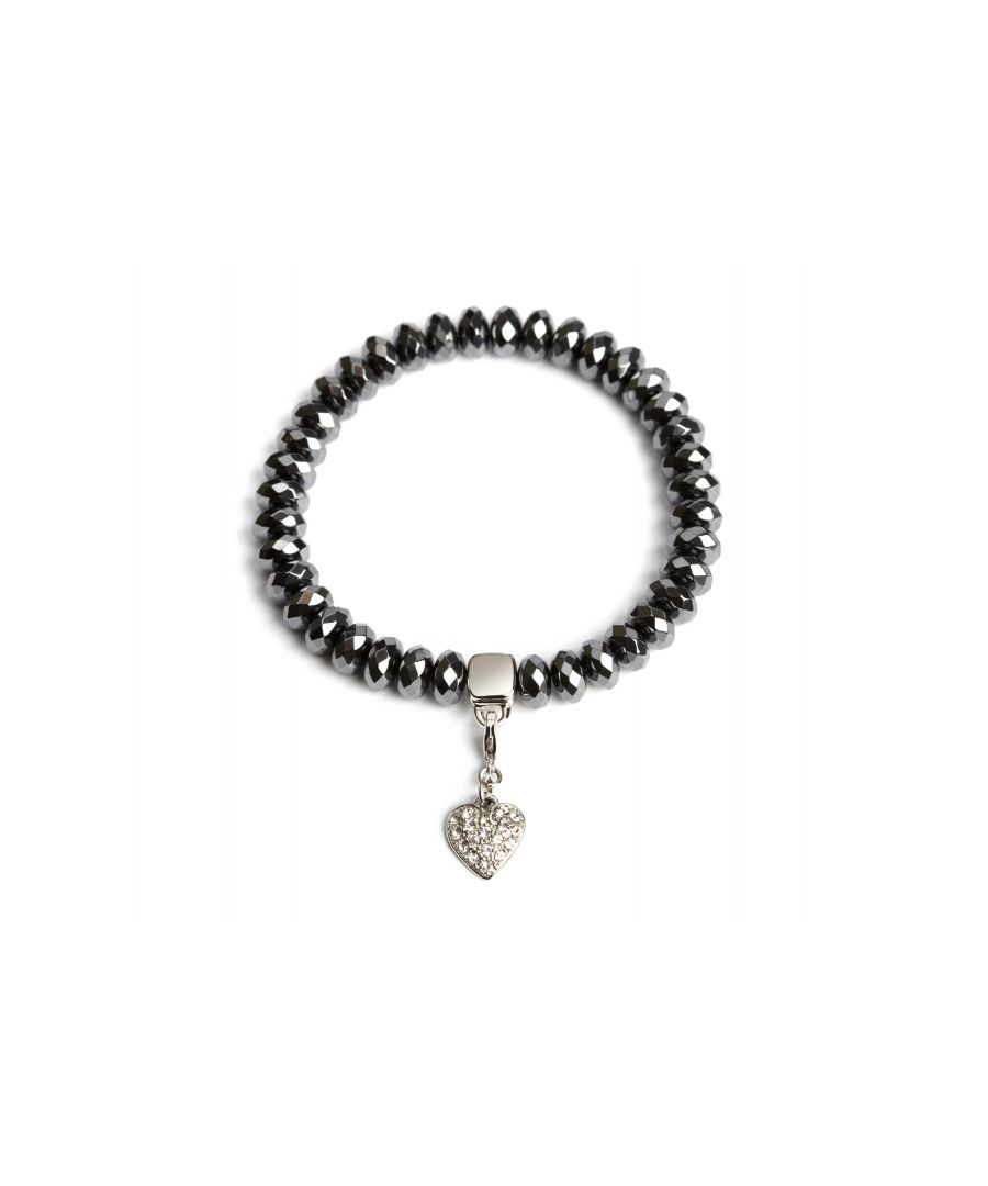 Image for Haematite Crystal Heart Charm Bracelet