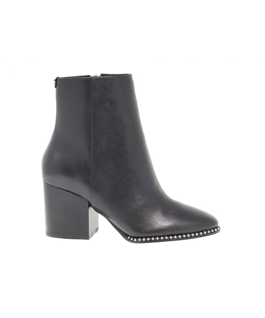 Image for GUESS WOMEN'S GUESSFLCOE4 BLACK LEATHER ANKLE BOOTS