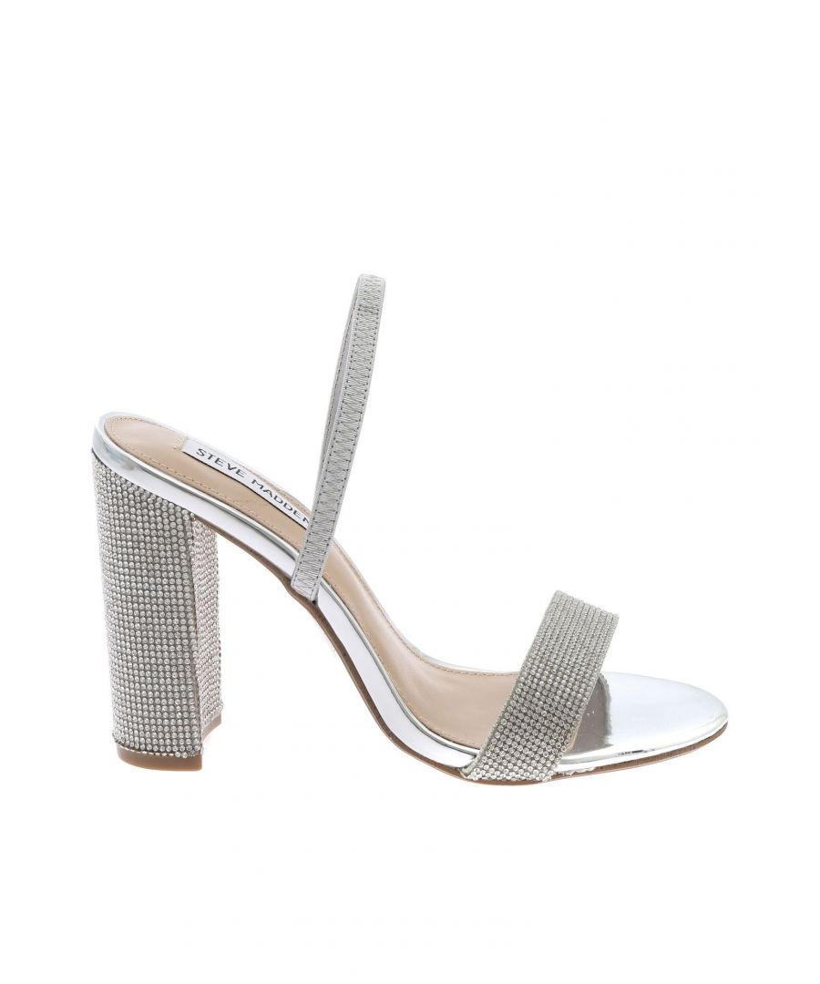 Image for STEVE MADDEN WOMEN'S CAMEORSILVER SILVER LEATHER SANDALS