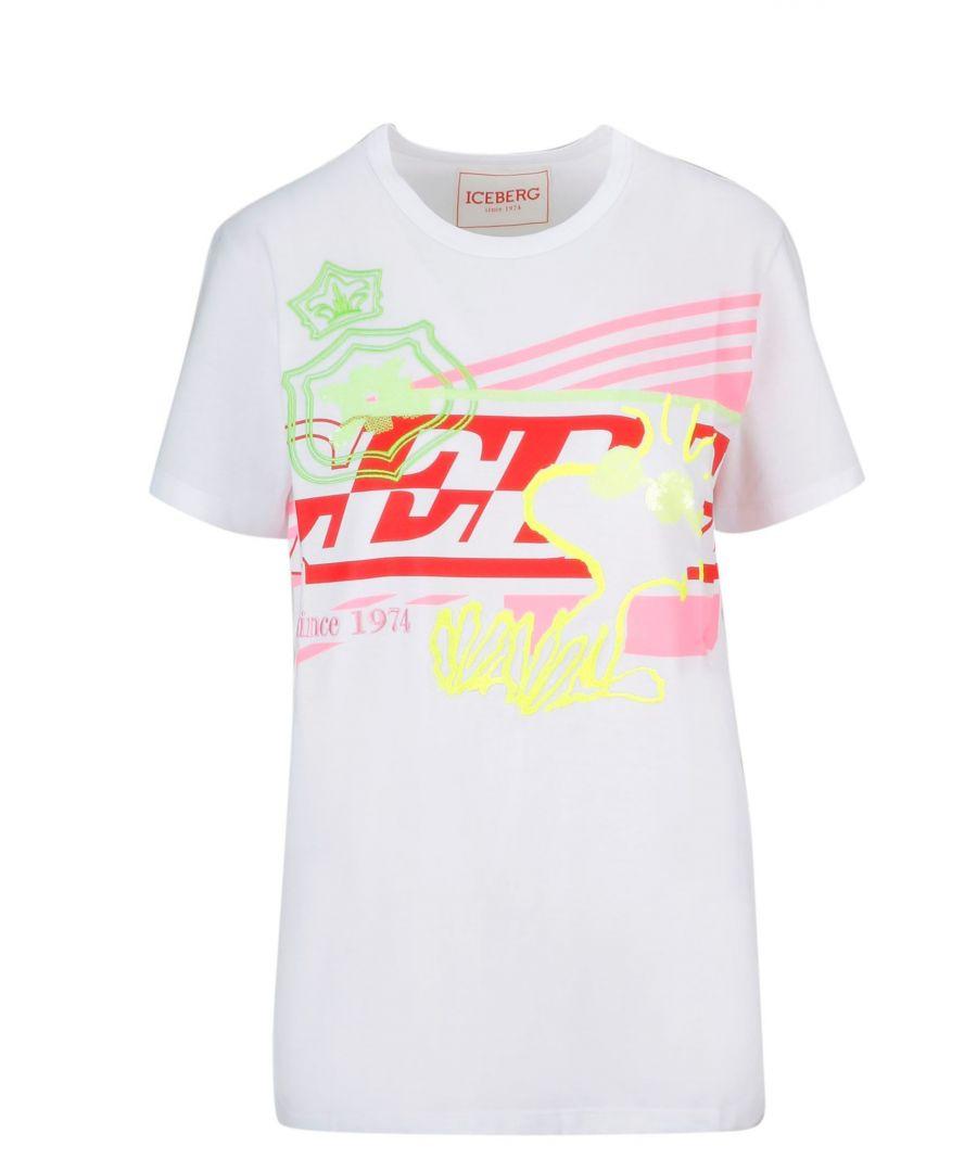 Image for ICEBERG WOMEN'S F02141521101 WHITE COTTON T-SHIRT