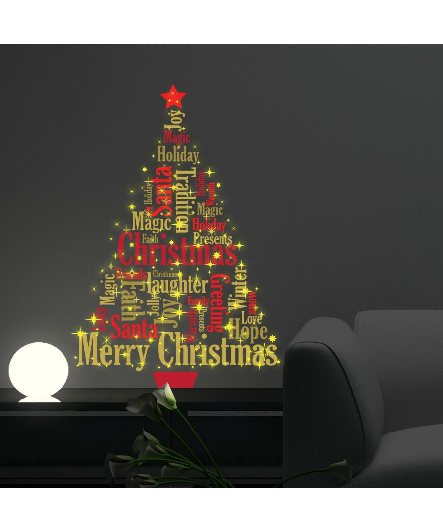 Image for WFXC6309 - COM - WS4026 + WS3036 - Magic Glow in Dark Christmas Tree English Quotes