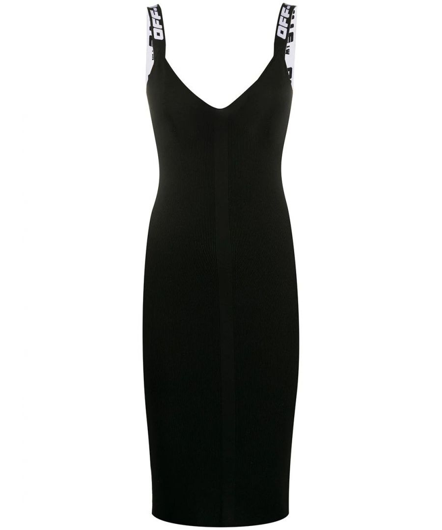 Image for OFF-WHITE WOMEN'S OWHI022R20H330681000 BLACK VISCOSE DRESS