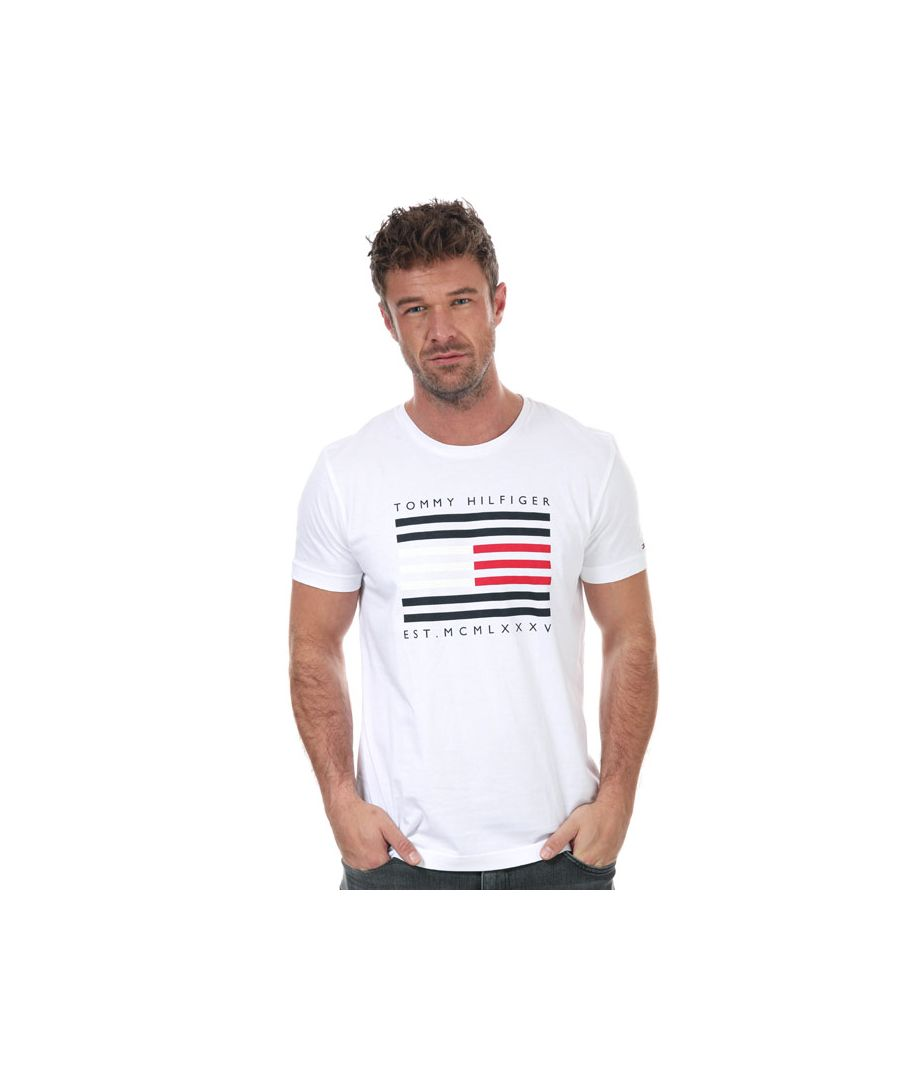 Image for Men's Tommy Hilfiger Corp Flag Line T-Shirt in White