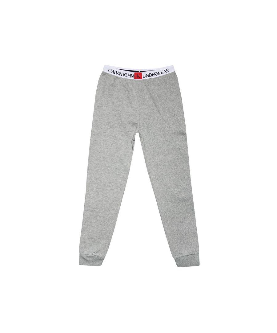 Image for Calvin Klein Boys' Junior Minigram Jog Pants Grey Heather
