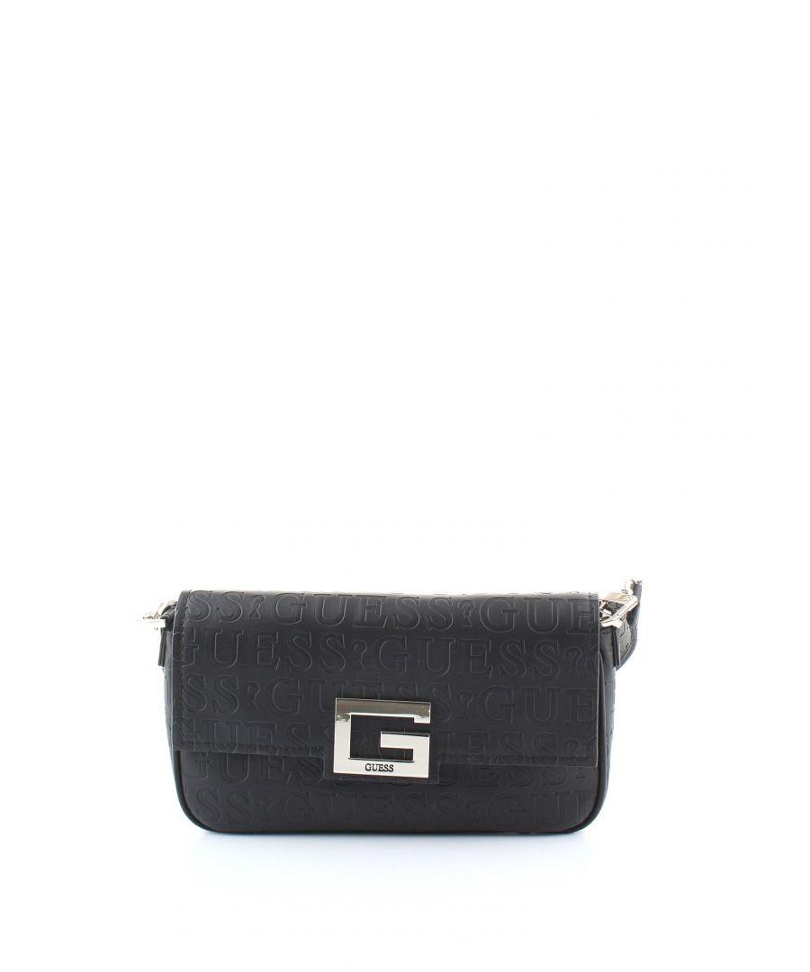 Image for GUESS WOMEN'S HWVD7580190BLACK BLACK POLYURETHANE SHOULDER BAG