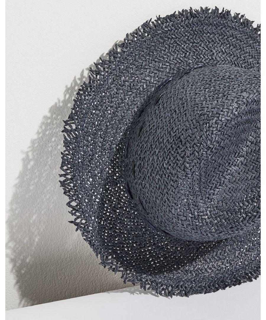 Image for Frayed Edge Stitch Fedora Hat