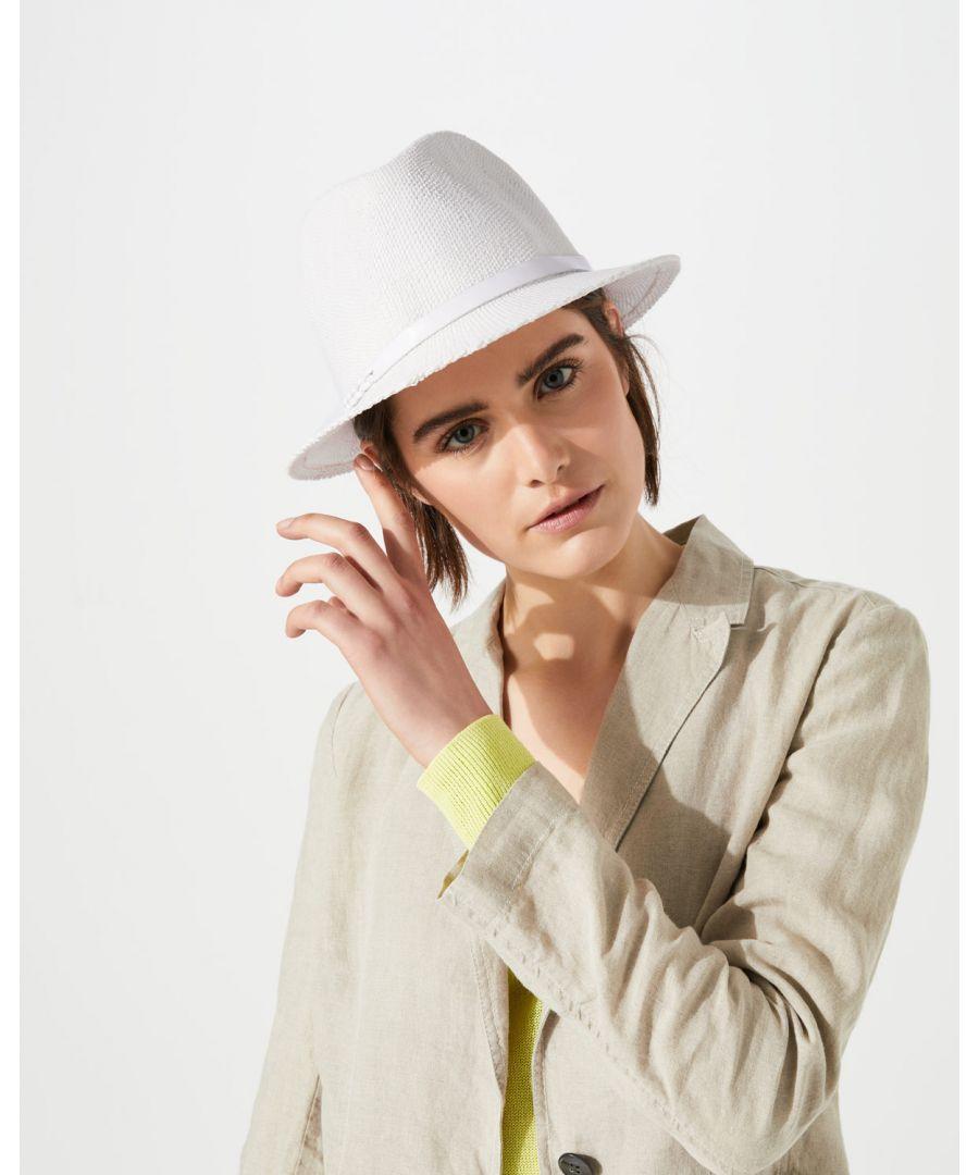 Image for Leather Plait Fedora Hat
