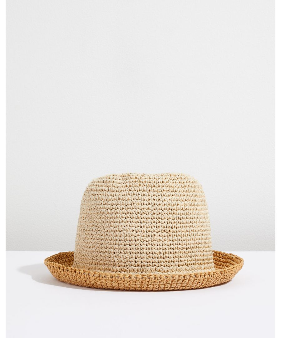 Image for Ombre Straw Bucket Hat