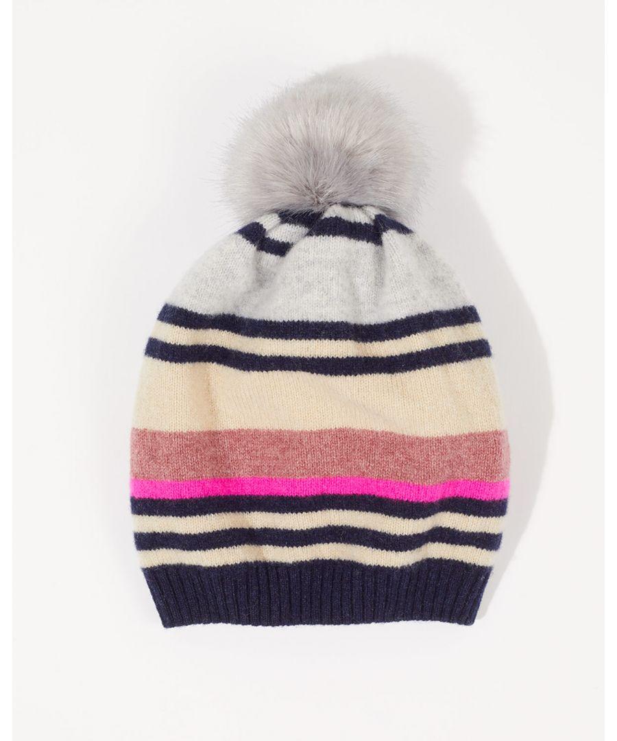 Image for Modern Stripe Wool Hat