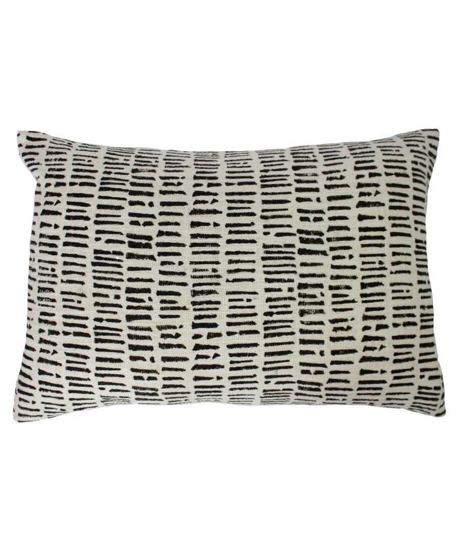 Image for Adara 40X60 Poly Cushion Ivory/Blac