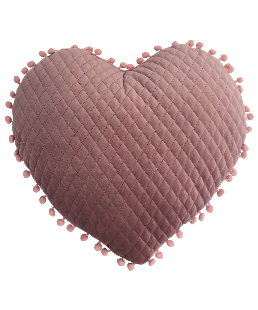 Image for Large Heart Pom Pom Cushion