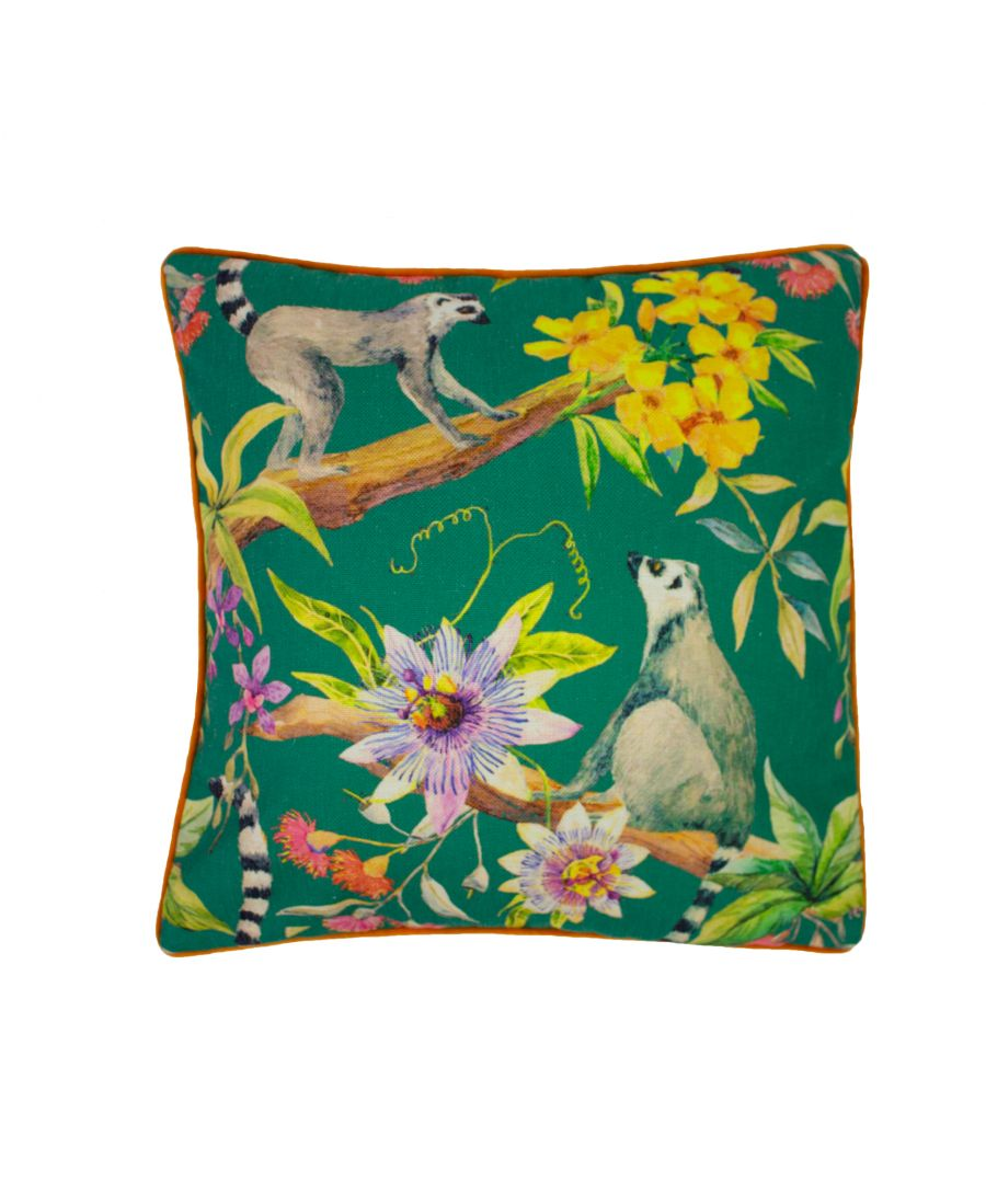 Image for Lemur Printed 50X50 PCushion Multi