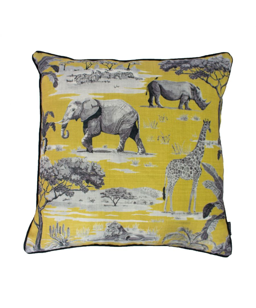 Image for Safari 55X55 Poly Cushion Ochre