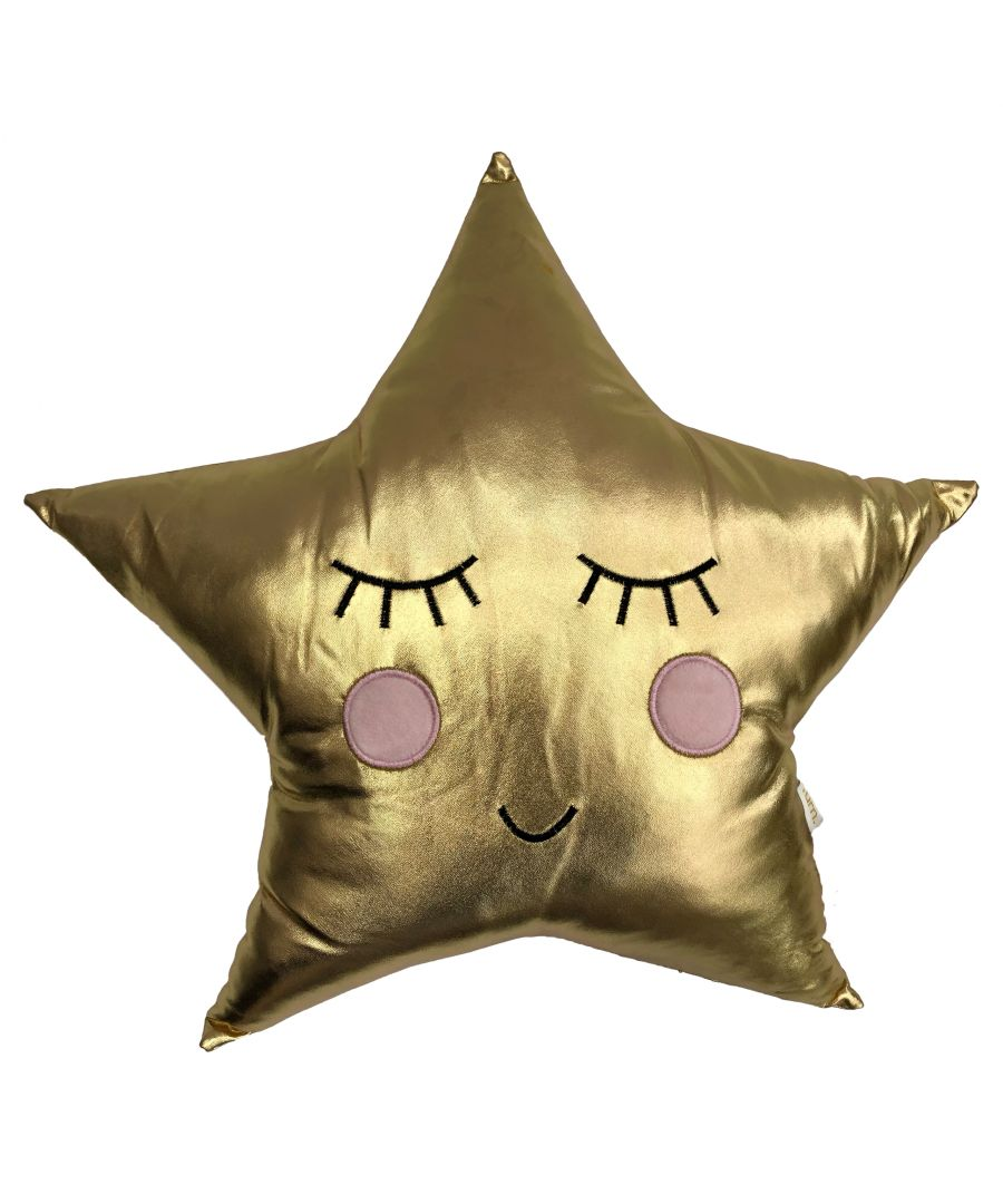 Image for Gold Shiny Star Cushion
