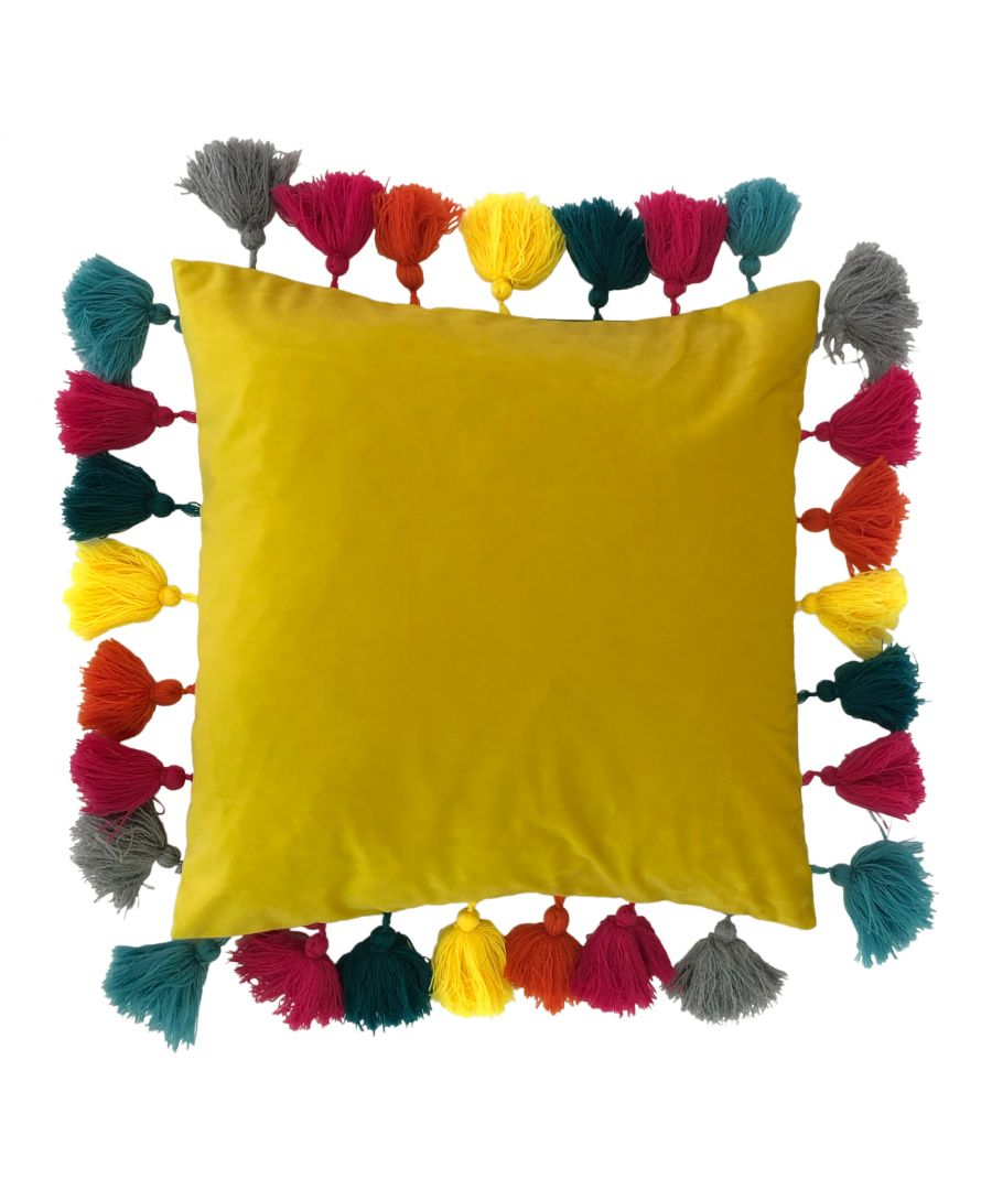 Image for Tassles 45X45 Poly Cushion Ceylon