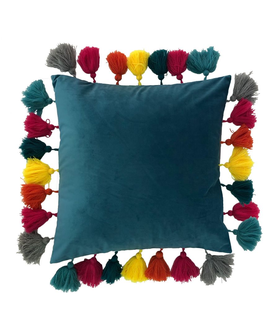 Image for Tassles 45X45 Poly Cushion Ocean