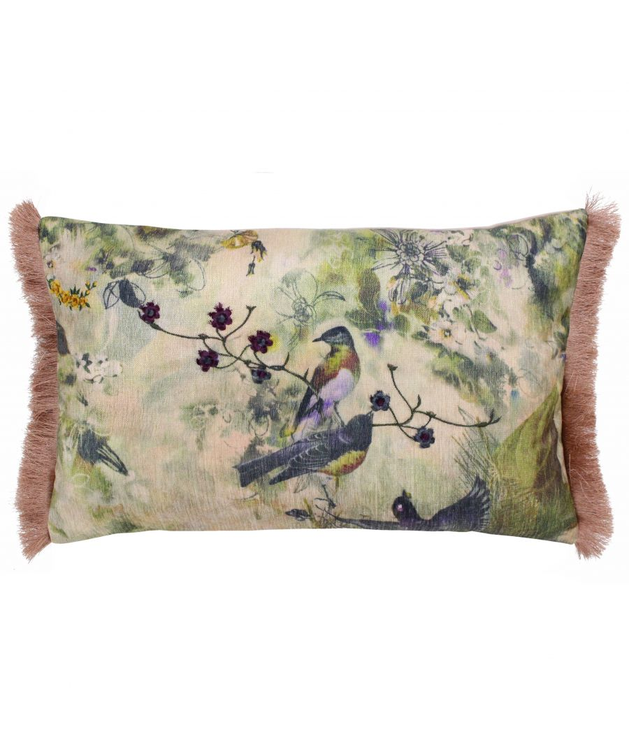 Image for Vintage Birds 30X50 PCushion Blush