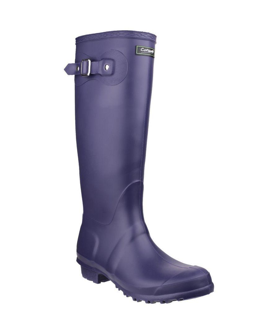 Image for Cotswold Sandringham Buckle-Up Womens Wellington Boots (Purple)