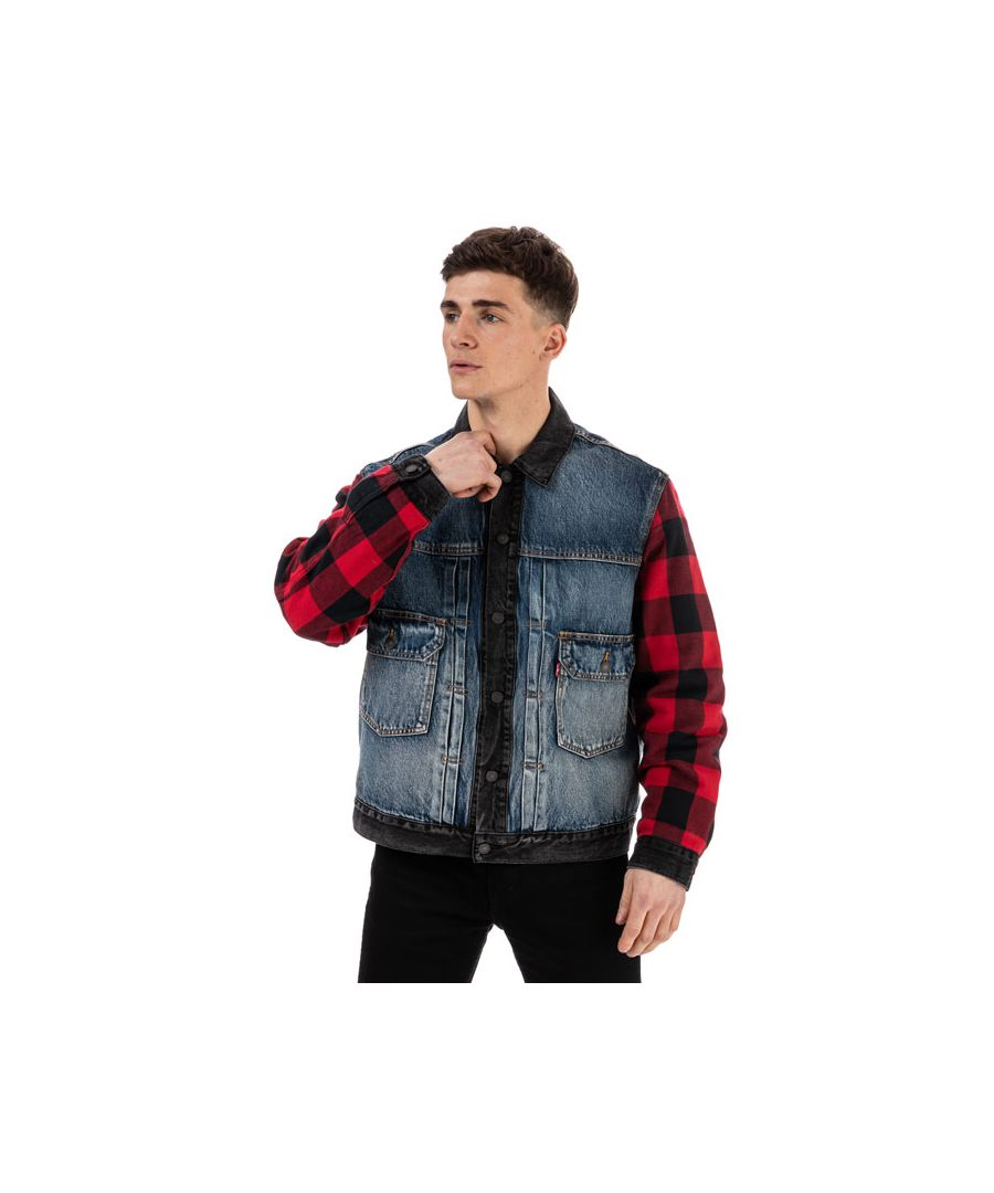 Image for Men's Levis Type 2 Hybrid Trucker Jacket in Denim