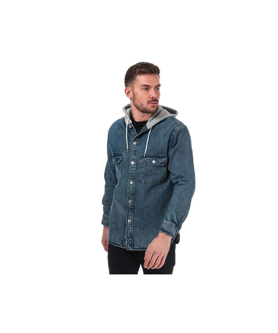 Image for Men's Levis Hooded Jackson Overshirt in Denim
