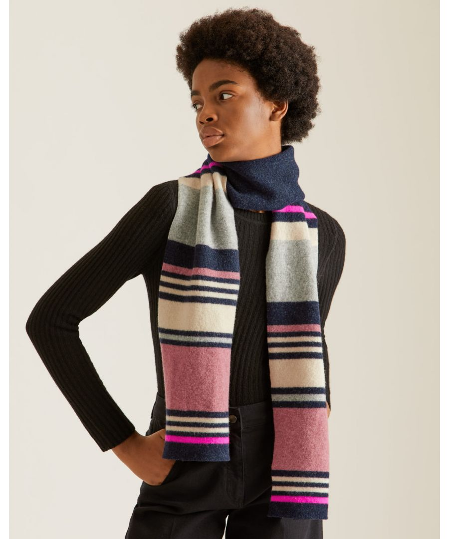 Image for Modern Stripe Wool Scarf