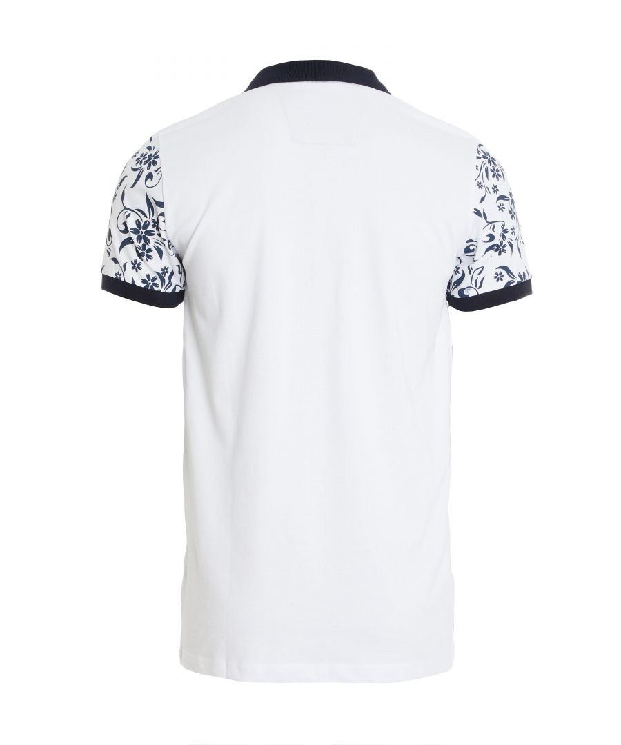 Image for Floral and Spots Polo in White