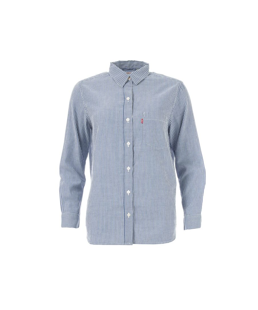 Image for Women's Levis The Perfect Boyfriend Shirt in Blue
