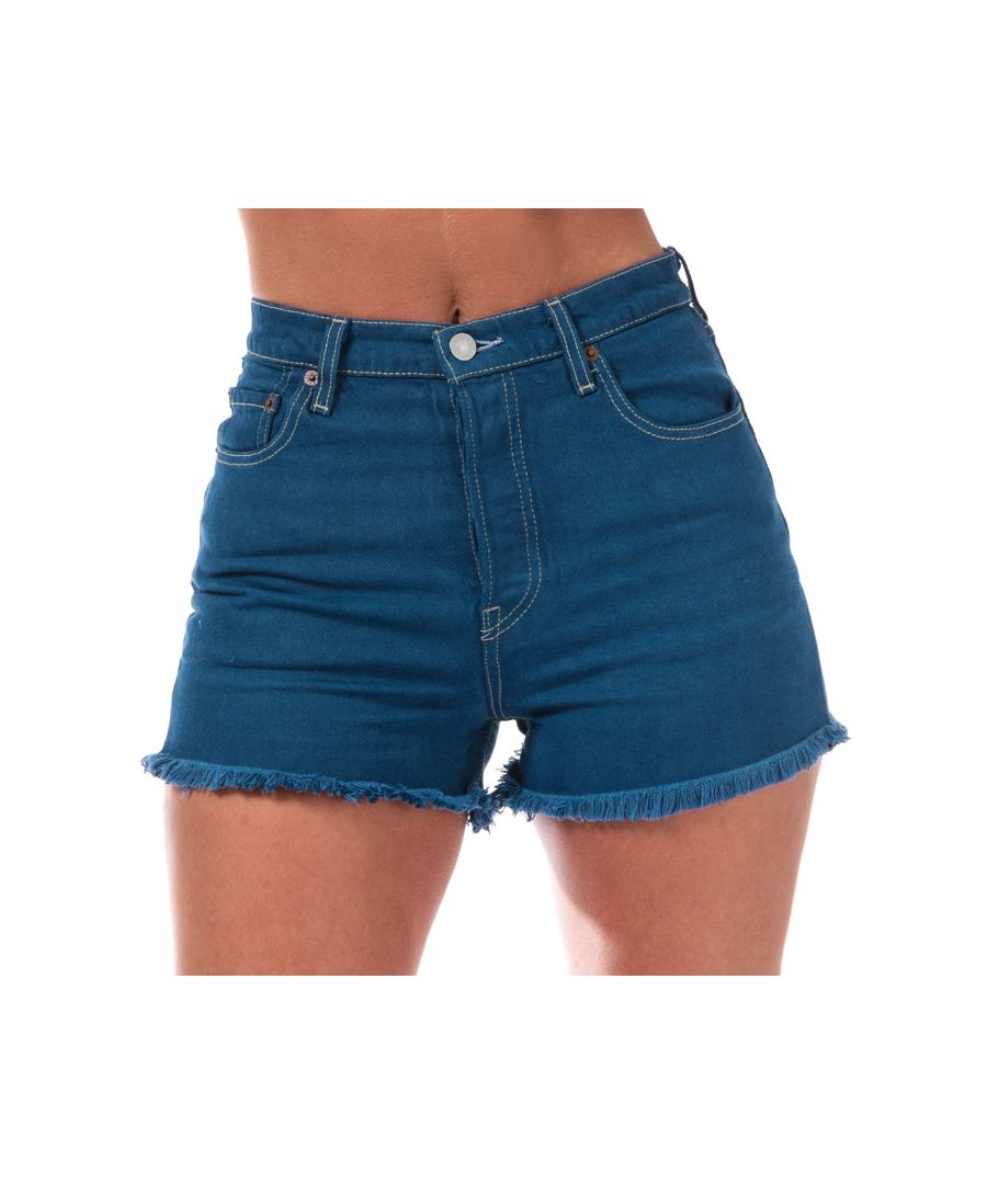 Image for Women's Levis Ribcage Shorts in Blue