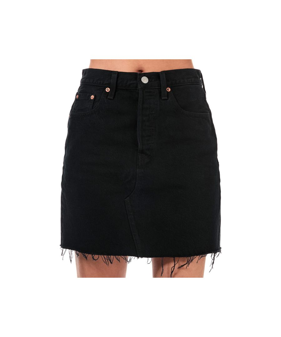 Image for Women's Levis Deconstructed Iconic Boyfriend Skirt in Black