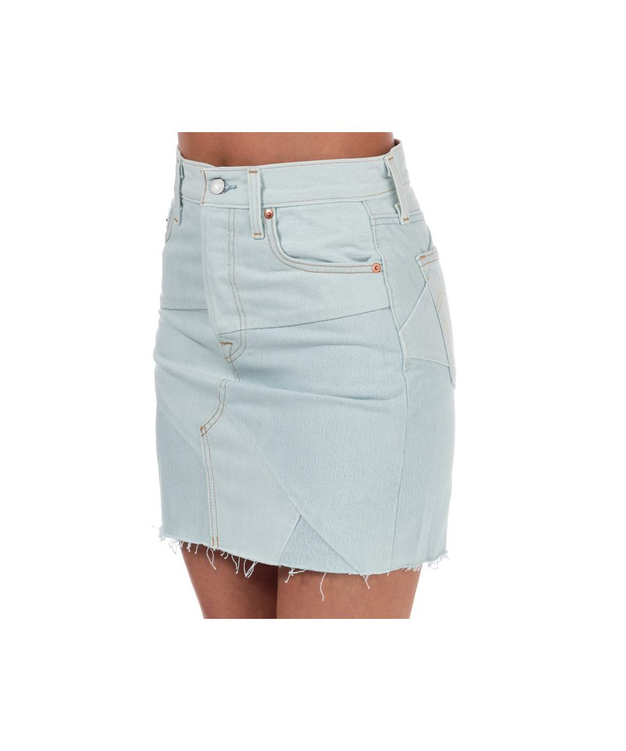 Image for Women's Levis Deconstructed Iconic Boyfriend Skirt Light Blue 24 inchin Light Blue