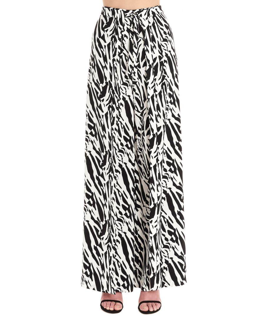 Image for DIANE VON FURSTENBERG WOMEN'S 13857DVFTTSMB WHITE SILK PANTS