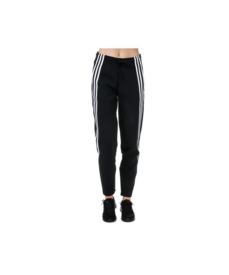 Image for Women's adidas 3-Stripes Doubleknit Zipper Pants in Black-White