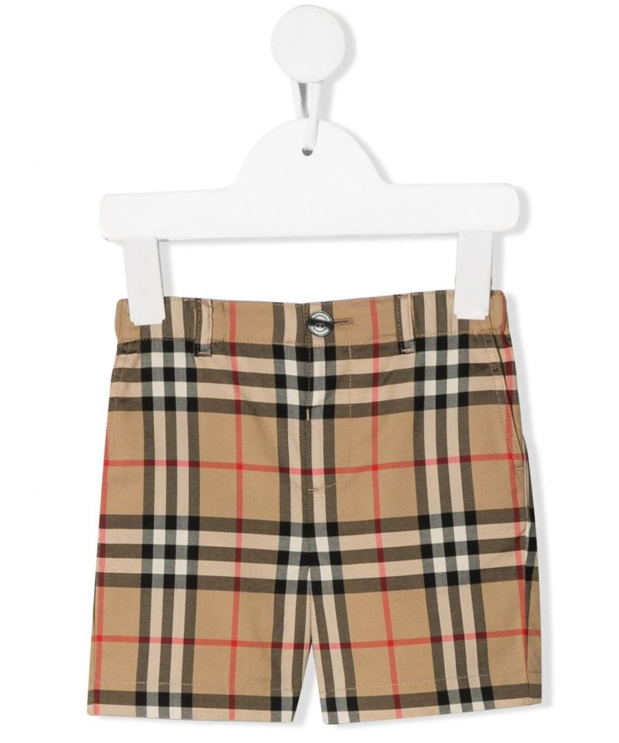Image for BURBERRY BABY GIRLS 8014138 BEIGE COTTON SHORTS