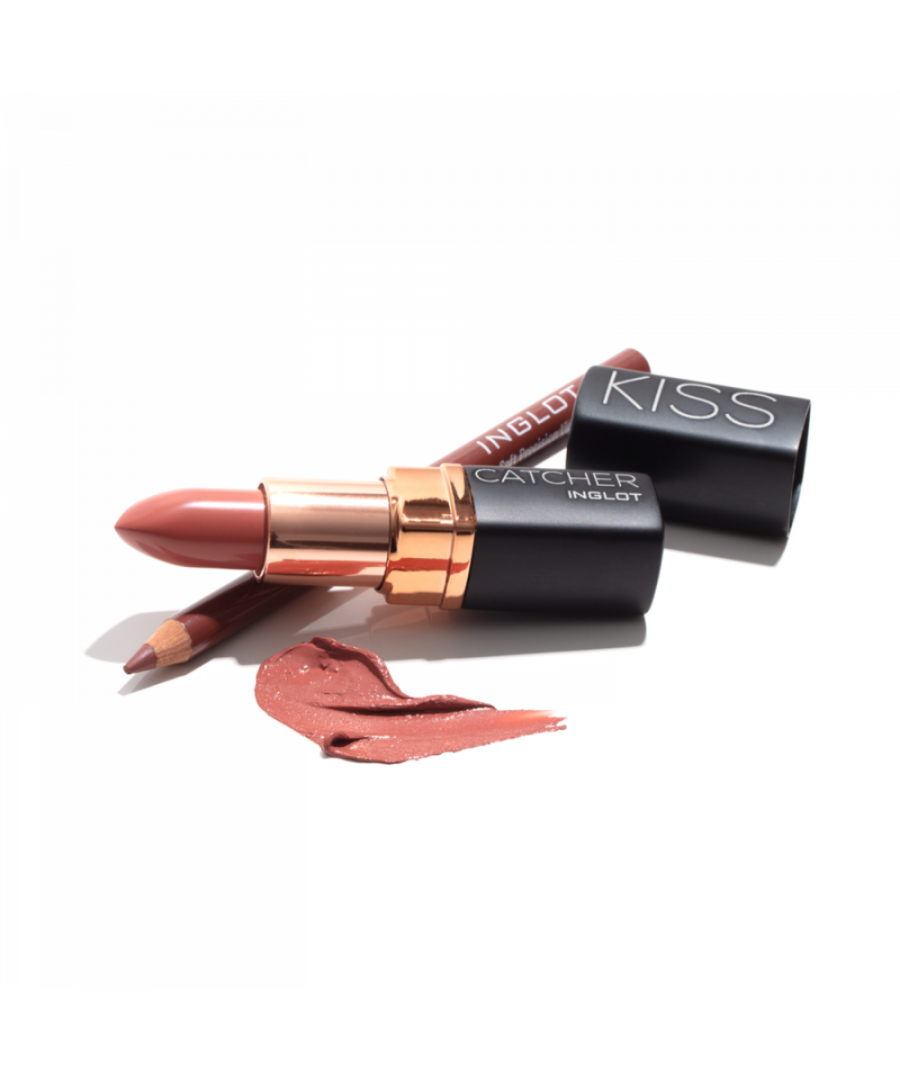 Image for New Inglot Kiss Catcher Collection Lipstick Makeup Gift Set - Nude Kiss