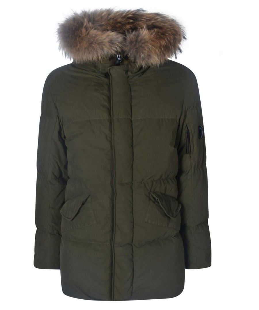 Image for CP COMPANY MEN'S 07CMOW204A005503G670 GREEN COTTON DOWN JACKET