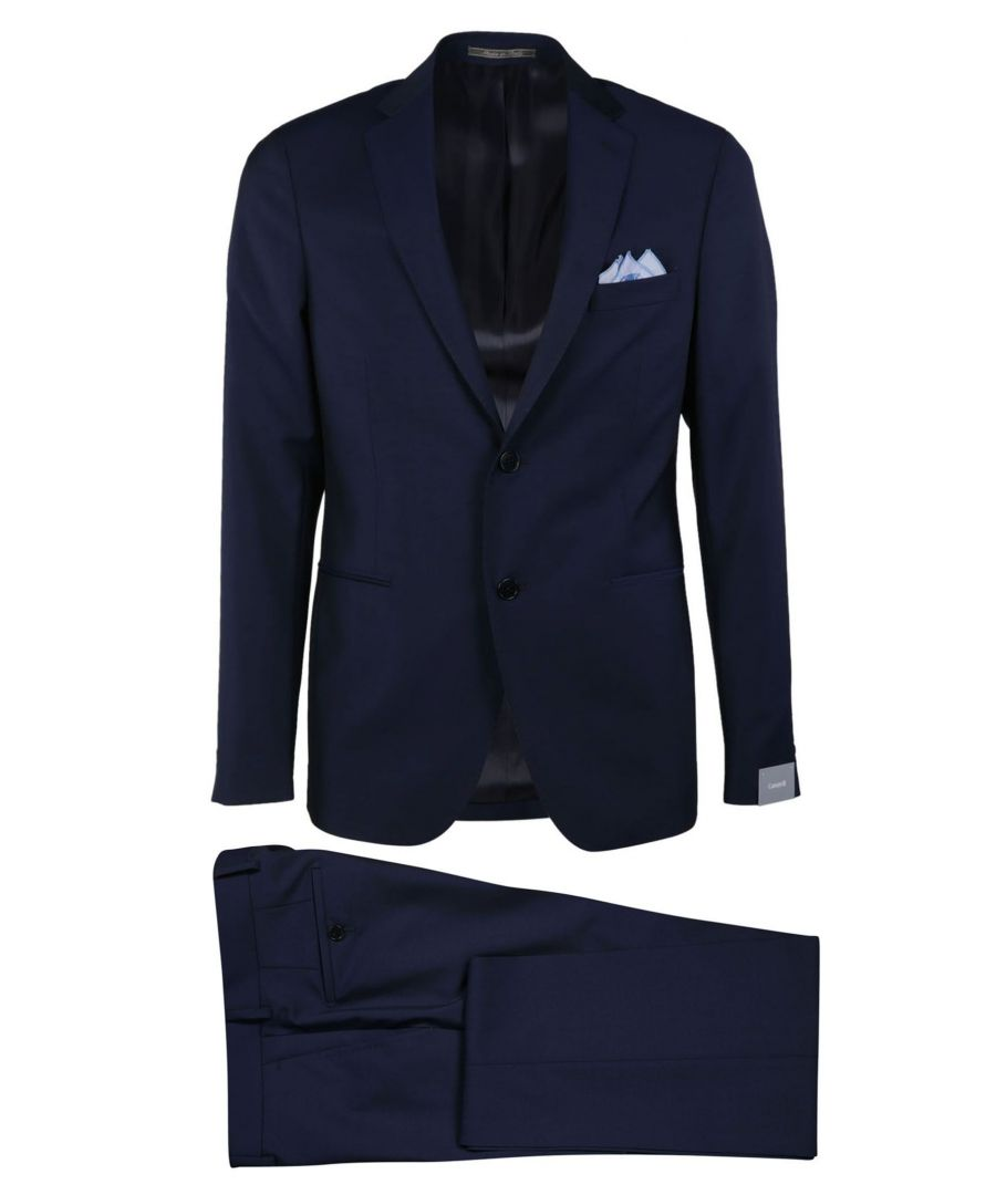 Image for CANTARELLI MEN'S 910322582491140 BLUE WOOL BLAZER